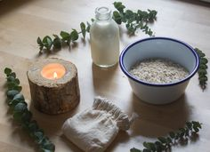 DIY Porridge, milk and eucalyptus bath for winter chapped skin | Seeds and Stitches blog