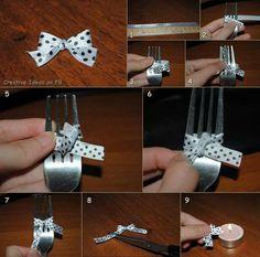 Un fiocco con una forchetta Tutorial