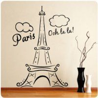 Eiffel Tower Wall Decals for the Bedroom | Easy Bedroom Decor