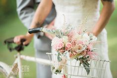 Blush Bouquet | Antique Bike | Monadnock Berry Farm | Troy, NH