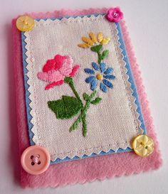 pretty floral needle case