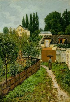Alfred Sisley. Garden Path in Louveciennes, 1873