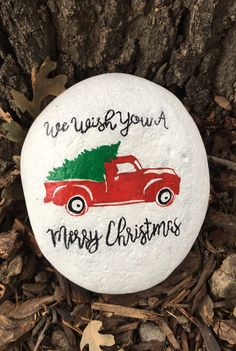 Painted Rock Christmas We Wish You A Merry Christmas
