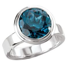 925 Sterling Silver Round London Blue Topaz Ring Size 7 -- You can find out more details at the link of the image.(This is an Amazon affiliate link)