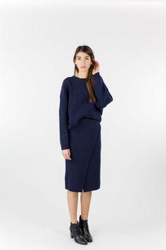 Just Female Corn Knit - Blue Stone