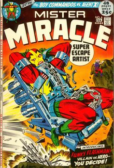 Mister Miracle #6, February 1972, cover by Jack Kirby and Mike Royer