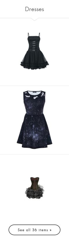 """Dresses"" by kathleenharry275 ❤ liked on Polyvore featuring dresses, short dresses, retro dress, retro style dresses, mini dress, retro mini dress, galaxy print dress, print cocktail dress, short black dresses and print mini dress"