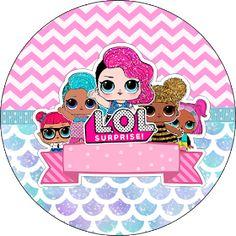Fiestas Personalizadas Imprimibles: Topper LOL para imprimir Gratis 4th Birthday, Birthday Parties, Lol Doll Cake, Doll Party, Lol Dolls, Party Printables, Baby Boy Shower, Paper Dolls, Crafts