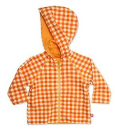Zutano Unisex-Baby Infant Fair And Square Reversible Zip Hoodie, Orange, 12 Months Zutano. $24.20