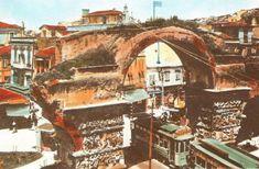 Όταν το τραμ περνούσε μέσα απ' την Καμάρα Thessaloniki, Greece, Travel, Painting, Vintage, Memories, Art, Greece Country, Memoirs