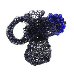 DORIS MANINGER-AT - crochet, ring in coated copper wire and beads