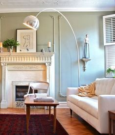 Yep, this is pretty much my current living room vision, including the cream colored couch. Am I crazy? Clearly I do not yet have children. Heh.