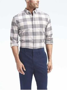 men:casual shirts|banana-republic