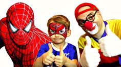 Car Clown - SPIDER BOY! - Face Painting Guessing Game Demo for Kids!