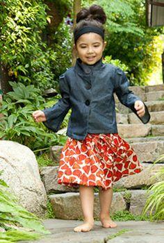 Bestill my heart!  My girl's favorite skirt is back at Redfish Kids!
