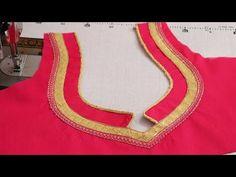 Beautiful Blouse back Neck Design – dressideas Blouse Back Neck Designs, Churidhar Neck Designs, Patch Work Blouse Designs, Salwar Neck Designs, Simple Blouse Designs, Neck Designs For Suits, Neckline Designs, Kurta Designs Women, Hand Designs