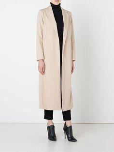 long buttonless coat