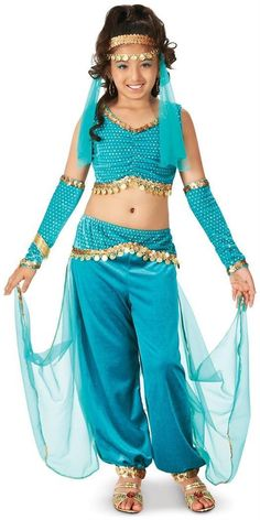 The Genie Child Costume is perfect for Halloween and theme parties. Find more great costume ideas at BuyCostum Theme Halloween, Halloween Costumes For Girls, Girl Costumes, Halloween Kids, Dance Costumes, Couple Halloween, Mermaid Costumes, Pirate Costumes, Couple Costumes