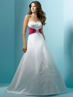 (NO.031107 )2011 Style Empire Strapless Sleeveless Chapel Train Satin Wedding Dress For Brides