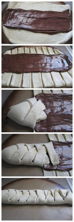 Chocolate bread - a delicious sweet bread filled with Nutella - ideal for breakfast, dessert or as a snack. Chocolate bread - a delicious sweet bread filled with Nutella - ideal for breakfast, dessert or as a snack. Baking Recipes, Dessert Recipes, Delicious Desserts, Yummy Food, Sweet Bread, Love Food, Sweet Recipes, Food To Make, Breakfast Dessert
