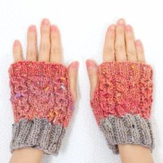 one and only ハンドウォーマー 杏♡ One And Only, Fingerless Gloves, Arm Warmers, Mittens, Knit Crochet, Knitting, Winter, Fashion, Fingerless Mitts