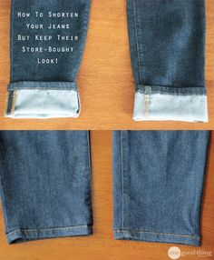 This awesome hemming trick allows you to shorten yours jeans and KEEP their original hem. It's crazy clever!