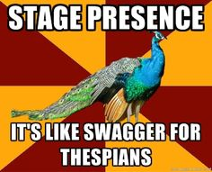 "i love everything about this.  from the quote that used the word ""thespians"" to the amazing peacock."