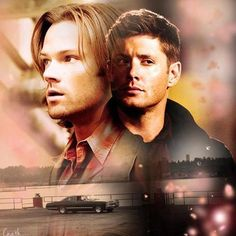 Love this pic of the handsome Winchesters above Baby...