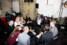 Interactive round table discussions at Youth 100