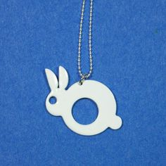 Bunny Charm Necklace  by Melissa Stiles