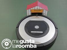 Customiza la base de carga de tu #Roomba con una casita.