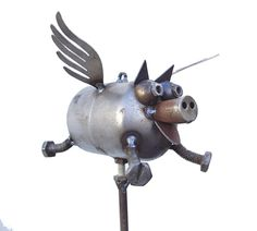 http://www.gardenart.com/Metal-Sculptures/Fred-Conlon-sugarpost/SP30-Flying-Pig.html