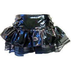 Hell Bunny PVC Tutu Skirt Black | Gothic Clothing | Emo clothing |... (26 PAB) ❤ liked on Polyvore featuring skirts, bottoms, faldas, black tutu skirt, punk skirt, hell bunny, gothic skirt and gothic tutu