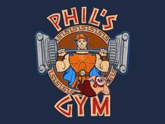 A gym parody t-shirt for fans of Disney's Hercules. Art by JozVoz. Show everyone that you are a fan of Hercules with this t-shirt. Disney Logo, Disney T-shirts, Disney Jokes, Disney Trips, Disney Magic, Cartoon Wallpaper, Hero Wallpaper, Hercules Disney, Hercules Movie