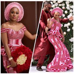 Hottest Kente Styles For Celebrities African Bridesmaid Dresses, African Wedding Attire, African Lace Dresses, Latest African Fashion Dresses, African Print Fashion, African Attire, Ankara Fashion, African Traditional Wedding Dress, Traditional Wedding Attire