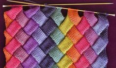 Мир хобби: Узор Энтерлак (вязание спицами) Lace Knitting Patterns, Knitting Stiches, Afghan Patterns, Crochet Stitches, Knit Crochet, Knitted Afghans, Knitted Hats, Knitted Flowers, Labor