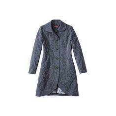 Merona Women's Paisley Print Luxe Coat -Blue ($80) found on Polyvore