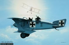 Roland C.II.   One of the few rules of aerial combat that were established in the First World War was to attack, where possible, with the sun behind you, thus using the element of surprise both to appear as if from nowhere and to blind your opponent to minimize retaliation.
