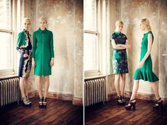 dresses, jackets, shoes, floral. gorgeous.  Erdem Pre-Fall 2013