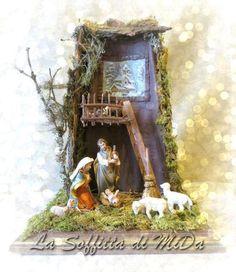 Christmas Decorations, Christmas Ornaments, Holiday Decor, Christmas Time, Merry Christmas, Decoupage, Clay Fairy House, Clay Fairies, A Child Is Born