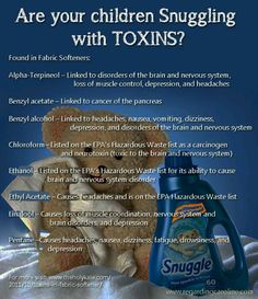 Dangerous chemicals in fabric softeners