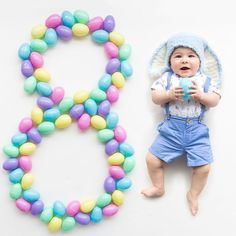 New Baby Photography Spring Easter Bunny Ideas Monthly Baby Photos, Monthly Pictures, Baby Boy Pictures, Newborn Pictures, Easter Pictures For Babies, Babies Pics, Babies Clothes, Baby Monat Für Monat, Foto 3d