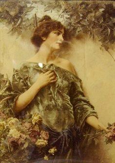 Conrad Kiesel (1846-1921) - Sepia Toned Crystoleum | by Valeria. V.