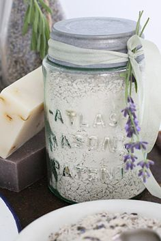 Lavender Bath Salts...We will probably start to make these at La Maison de Lucy...plus other lovely French decor