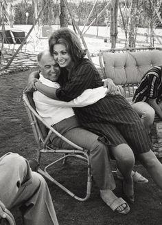 Sophia Loren embraced her husband Carlo Ponti