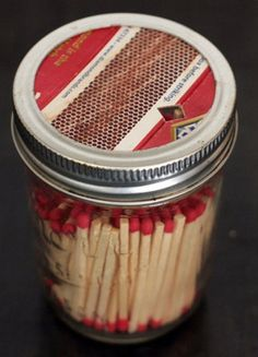 Mason Jar Matchbook by KCCrafty on Etsy, $7.00