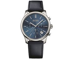 Hugo Boss Men's Chronograph Time One Black Leather Strap Watch 1513430 Trendy Watches, Vintage Watches For Men, Men's Watches, Hugo Boss Watches, Boss Black, Hugo Boss Man, Stainless Steel Case, Chronograph, Black Leather