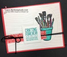 A fun sneak peek at the upcoming Crafting Forever set from Stampin' Up! and the retiring products list.