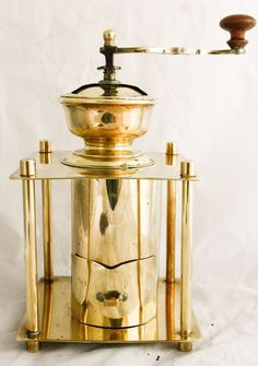 Copper Coffee grinder Brass table box Mill Moulin a cafe RARE