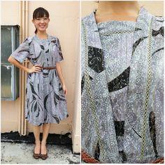 Vintage Dress/ Midnight Swirl Dress/ Medium by HEIRESSxVintage, $38.00